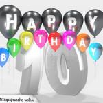 Geburtstagskarte für 10. Geburtstag