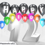 Geburtstagskarte für 12. Geburtstag