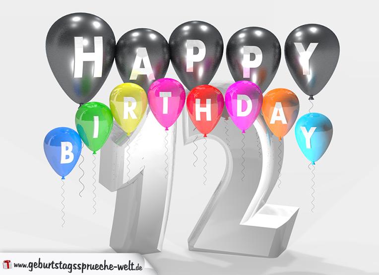 Geburtstagssprüche 12 Jahre