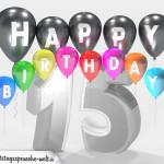 Geburtstagskarte für 15. Geburtstag