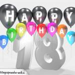 Geburtstagskarte für 18. Geburtstag