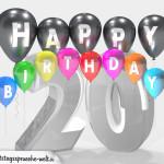 Geburtstagskarte für 20. Geburtstag