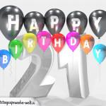 Geburtstagskarte für 21. Geburtstag