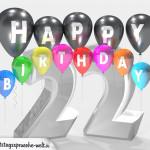 Geburtstagskarte für 22. Geburtstag