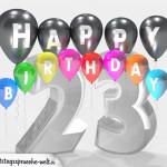 Geburtstagskarte für 23. Geburtstag