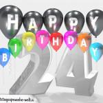 Geburtstagskarte für 24. Geburtstag