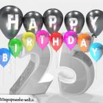 Geburtstagskarte für 25. Geburtstag