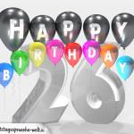 Geburtstagskarte für 26. Geburtstag