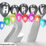 Geburtstagskarte für 27. Geburtstag