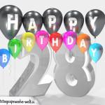 Geburtstagskarte für 28. Geburtstag