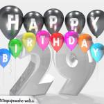 Geburtstagskarte für 29. Geburtstag