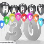 Geburtstagskarte für 30. Geburtstag