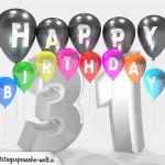Geburtstagskarte für 31. Geburtstag