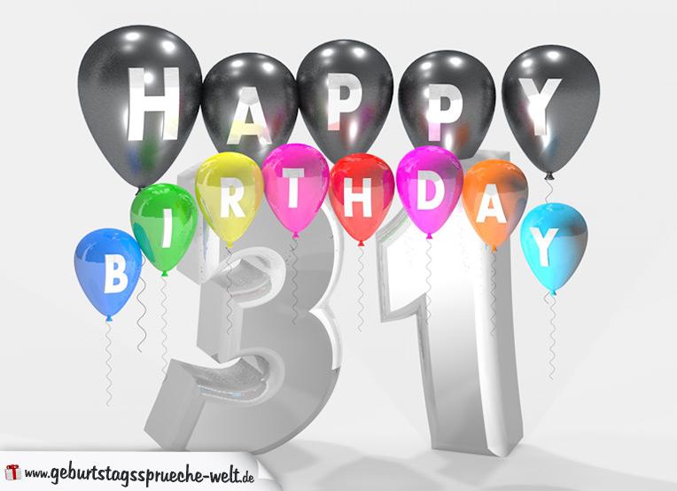Geburtstagssprüche Zum 31