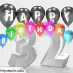 Geburtstagskarte für 32. Geburtstag