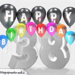 Geburtstagskarte für 38. Geburtstag