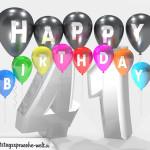 Geburtstagskarte für 41. Geburtstag