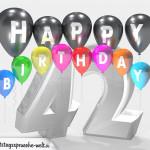 Geburtstagskarte für 42. Geburtstag