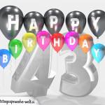 Geburtstagskarte für 43. Geburtstag