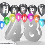 Geburtstagskarte für 48. Geburtstag