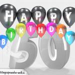 Geburtstagskarte für 50. Geburtstag