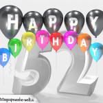 Geburtstagskarte für 52. Geburtstag