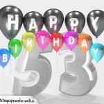 Geburtstagskarte für 53. Geburtstag