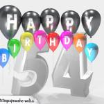 Geburtstagskarte für 54. Geburtstag