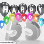 Geburtstagskarte für 55. Geburtstag