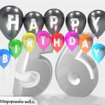 Geburtstagskarte für 56. Geburtstag