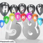 Geburtstagskarte für 58. Geburtstag