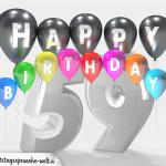 Geburtstagskarte für 59. Geburtstag