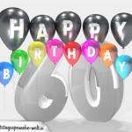 Geburtstagskarte für 60. Geburtstag