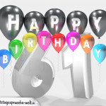 Geburtstagskarte für 61. Geburtstag