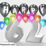 Geburtstagskarte für 62. Geburtstag
