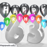 Geburtstagskarte für 63. Geburtstag