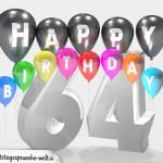 Geburtstagskarte für 64. Geburtstag