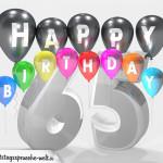 Geburtstagskarte für 65. Geburtstag