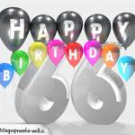 Geburtstagskarte für 66. Geburtstag