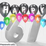 Geburtstagskarte für 67. Geburtstag