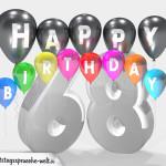 Geburtstagskarte für 68. Geburtstag
