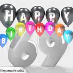 Geburtstagskarte für 69. Geburtstag