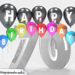 Geburtstagskarte für 70. Geburtstag