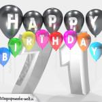 Geburtstagskarte für 71. Geburtstag