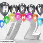 Geburtstagskarte für 72. Geburtstag