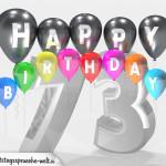 Geburtstagskarte für 73. Geburtstag