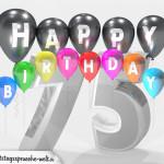Geburtstagskarte für 75. Geburtstag