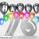 Geburtstagskarte für 76. Geburtstag