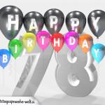 Geburtstagskarte für 78. Geburtstag