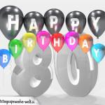 Geburtstagskarte für 80. Geburtstag